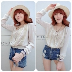 Baby Chillin' Blouse (สีเบจ)