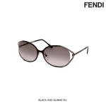 แว่นตา Fendi Women's Fashion Sunglasses - Black & Gunmetal
