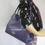 กระเป๋า Coach 33547 LIVIO Edie Pebbled Leather Shoulder Bag Gold/violet