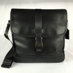 สินค้าพร้อมส่งจาก USA » กระเป๋า COACH F71552 PERFORATED LEATHER MAP BAG BLACK CROSSBODY