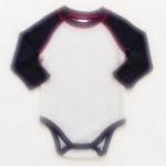 ฺBDS-342 (12M,18M) ชุดบอดี้สูท Baby Boots สีเทา ตัดต่อแขนสีกรมท่า ใส่ Rib สีกรมทา ลาโรยตะเข็บสีแดง
