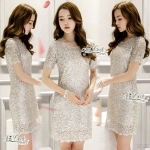 Luxury aristocratic ladies dress dinner party dress sequined by Aris Code