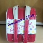 กระเป๋านักเรียนญี่ปุ่น เกรดพรีเมี่ยม ล็อคอัตโนมัติ Red Rose