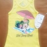GSH-410 (2-3Y) เสื้อกล้าม Disney สีเหลือง ลายมิคกี้เม้าส์ Disney Cruise Line กางร่มสีชมพู-น้ำตาล