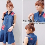 Rosy Denim Dress