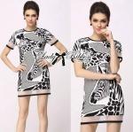 Lady Sandra Super Chic Giraffe Print Mini Dress