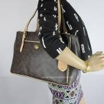 กระเป๋า COACH F24603 B4AQW Peyton Signature Double Zip Carryall Bag Brown