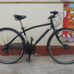 สาขา1 จักรยานทัวริ่ง สีดำ มีเกียร์ หน้าหลัง