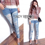 Lady Elina Washed Ripped Skinny Jeans