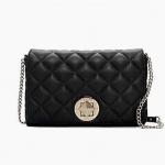 กระเป๋า Kate Spade WKRU2333 สะพายข้าง หนังแท้ทรงเดียวกับ Chanel Flap สีดำ