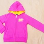 GSH-384 (6Y) เสื้อกันหนาว Nike สีชมพู ปักแบรนด์ Nike ลายนูนสีเหลืองกรอบชมพู  ผ้าตาข่ายซับใน Hood สีเหลือง