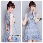 Self-Portrait Lace Peplum Mini Dress