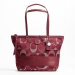 กระเป๋า COACH F20429 tote bag grey multi color SIS 3COLOR signature metallic women's