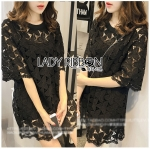 Lady Delphina Classic Minimal Guipure Lace Dress