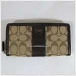 กระเป๋าสตางค์ COACH 48463 SKHMA LEGACY SIGNATURE ACCORDION ZIP WALLET