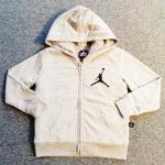 BSH-210 (3-4Y,5-6Y) เสื้อกันหนาว Jordan สีเทา ปักแบรนด์ Jordan สีดำ ด้านในบุขนแกะแท้ 100% สีเทา