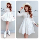 Dolly Pure White Dress