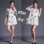 Lady Kimberley Princess Butterfly Embroidered Lace Mini Dress