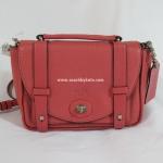 กระเป๋า COACH 32262 AKD0F Bleecker Pebbled Leather Mini Loganberry Brooklyn Messenger
