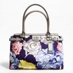 สินค้าพร้อมส่ง : กระเป๋า Coach F23348 SV/NY Madison Floral Kara Carryall Purse Bag Navy/Multi