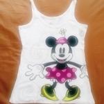 GSH-405 (12-18Y) เสื้อกล้าม Disney สีขาว ลาย Minney (Big Size)