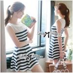 Lady Suzi Basic Chic Striped Mini Dress