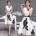 Aris Code Black rose dress