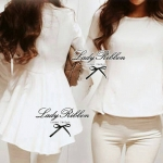 Lady Elisa Minimal Chic Long-Sleeved Top