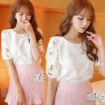 Sweet lace shirt by Aris Code