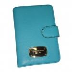 สินค้าพร้อมส่ง : ที่ใส่พาสปอร์ต Michael Kors 35S5GTTT1L Jet Set Passport Case Holder Luggage Leather สีฟ้า