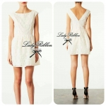 Lady Margaret White Lace Mini dress