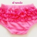 GP-075 (12M) กางเกงใน Starting Out สีชมพู ระบายผ้าชีฟอง สีชมพูลายดอก (ด้านหลัง) 3 ชั้น