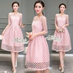 Pink lace dress skirt sweet by Aris Code