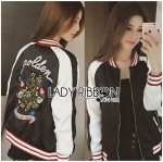 Lady Vanessa Street Style Embroidered Bomber Jacket