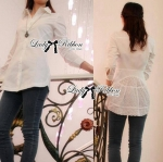 Lady Erin Insert Lace Embroidered Cotton Shirt Dress in White