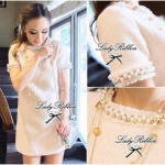 Lady Eleanor, Pearly Embellish Tweet Mini dress