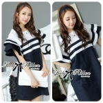 Lady Natasha Striped Dress in Navy Style