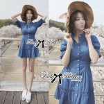 Lady Marissa Modern Country Denim Shirt Dress