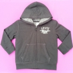 ฺBSH-178 (4Y) เสื้อกันหนาว Levi's สีดำ ปักแบรนด์ LEVI'S สีเทา ด้านในบุขนแกะแท้ 100% สีเทา