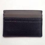 ที่ใส่ id card Coach Men's Heritage Web Leather Slim Card Case Wallet F74375 Black