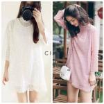 Pastel Lacy Mini Dress