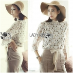 Lady Rose Sweet Gorgeous Knitted Lace Jumper