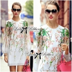 Lady Sarah Sweet Spring Sakura Print Cotton Dress