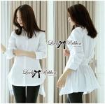 Lady Amie Minimal Style Shirt in White