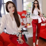 Lady Allure Red Rouge Skinny Set