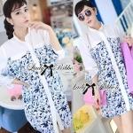 Lady Lara Summer Floral Print Shirt Dress