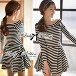 Lady Mandy Mixed Striped Easy Dress