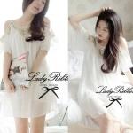 Temperley London Giovanna Embellished White Tunic Dress