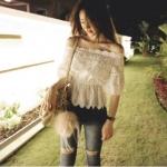 Partysu Huggable Lace Short Blouse (สีขาว)