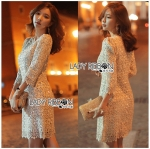 Lady Abigail Sweet Vintage Embellished Lace Dress
